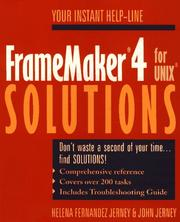 Cover of: FrameMaker 4 for UNIX solutions | Helena Fernandez Jerney