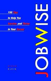 Cover of: Jobwise by Steve Klein