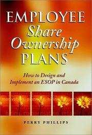 Cover of: Employee share ownership plans | Perry Phillips