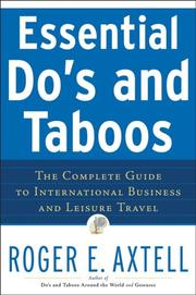 Cover of: Essential do's and taboos | Roger E. Axtell