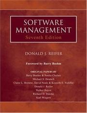 Cover of: Software Management (Practitioners) by Donald J. Reifer