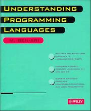 Cover of: Understanding programming languages by M. Ben-Ari
