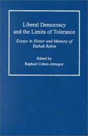 Cover of: Liberal Democracy and the Limits of Tolerance by Raphael Cohen-Almagor