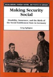 Cover of: Making Security Social by Greg A. Eghigian