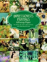 Cover of: Impressionist Paintings Giftwrap Paper (Giftwrap--2 Sheets, 1 Designs) | Carol Belanger Grafton