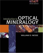Cover of: Introduction to optical mineralogy | William D. Nesse