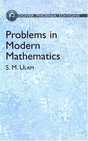 Cover of: Problems in modern mathematics | Stanislaw M. Ulam