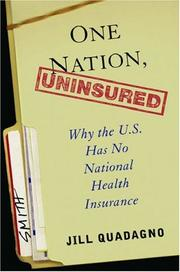 Cover of: One Nation, Uninsured | Jill Quadagno