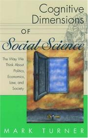 Cover of: Cognitive Dimensions of Social Science | Mark Turner