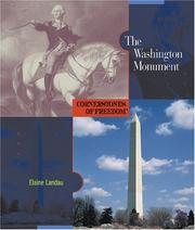 Cover of: The Washington Monument | Elaine Landau