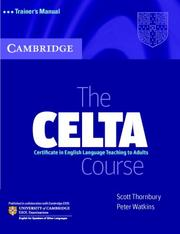 Cover of: The CELTA Course Trainer's Manual by Scott Thornbury