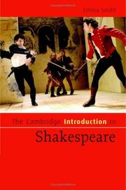Cover of: The Cambridge Introduction to Shakespeare (Cambridge Introductions to Literature) | Emma Smith, Emma Smith