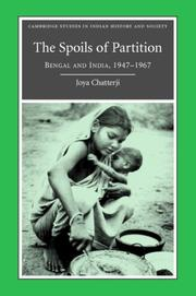 Cover of: The spoils of Partition by Joya Chatterji