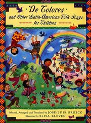 Cover of: De Colores and Other Latin American Folksongs for Children | Jose-Luis Orozco