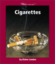 Cover of: Cigarettes by Elaine Landau