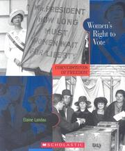 Cover of: Women's Right to Vote | Elaine Landau