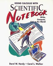 Cover of: Doing calculus with Scientific Notebook | Darel W. Hardy