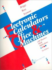 Cover of: Electronic calculators & office machines by Robert Briggs