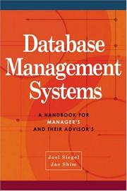 Cover of: Database Management Systems | Jae K. Shim