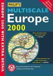 Cover of: Philip's Multiscale Europe 2000 (Road Atlas) by Inc. Sterling Publishing Co.