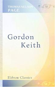 Cover of: Gordon Keith | Thomas Nelson Page
