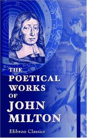 Cover of: Milton's Poems by John Milton