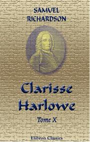 Cover of: Clarisse Harlowe by Samuel Richardson