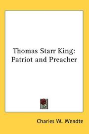 Cover of: Thomas Starr King | Charles W. Wendte