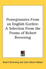 Cover of: Pomegranates from an English Garden | Robert Browning