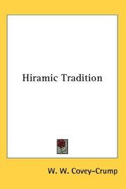 Cover of: Hiramic Tradition | W. W. Covey-Crump