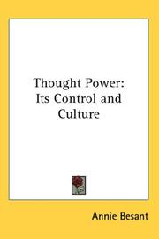 Cover of: Thought Power | Annie Wood Besant