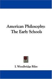 Cover of: American Philosophy | I. Woodbridge Riley