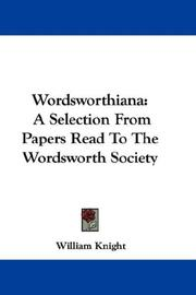 Cover of: Wordsworthiana by William Knight