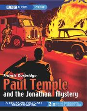 Cover of: Paul Temple and the Jonathan Mystery | Francis Durbridge