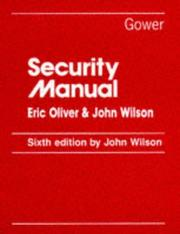 Cover of: Security manual by Eric Oliver