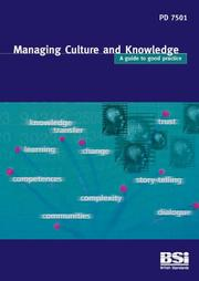 Cover of: Managing Culture and Knowledge by Neill Allan
