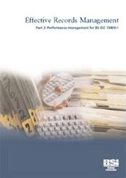 Cover of: Effective Records Management by Philip Jones