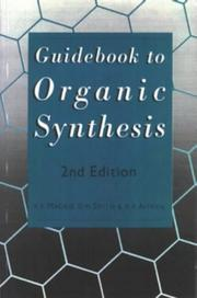 Cover of: Guidebook to organic synthesis by Raymond K. Mackie