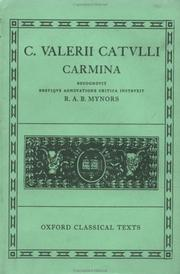 Cover of: Carmina (Oxford Classical Texts Ser) | Gaius Valerius Catullus