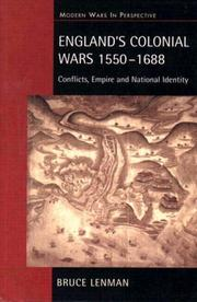 Cover of: England's Colonial Wars 1550-1688 | Bruce P. Lenman