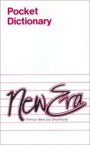 Cover of: Pitman New Era Shorthand Pocket Dictionary (Pitman) by Pitman Publishing Ltd