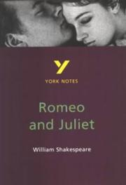"Cover of: York Notes on William Shakespeare's ""Romeo and Juliet"" 