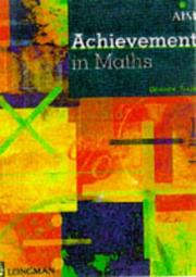 Cover of: Achievement in Maths (Certificate of Achievement in Mathematics) | Dominic Turpin