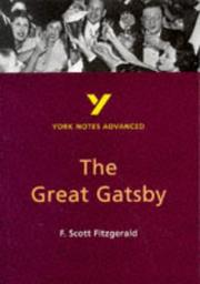 "Cover of: York Notes on F.Scott Fitzgerald's ""Great Gatsby"" 