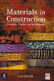 Cover of: Materials in Construction (Chartered Institute of Building) | G.D. Taylor