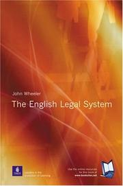 Cover of: English Legal System | John Wheeler