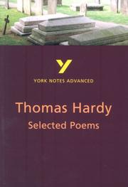 "Cover of: York Notes on ""The Selected Poems of Thomas Hardy"" by Alan Pound"