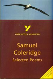 Cover of: Selected Poems of Coleridge by Samuel Coleridge