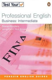 Cover of: Test Your Professional English - Business Intermediate (Test Your Professional English) by BRIEGEN