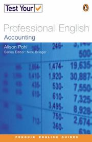 Cover of: Test Your Professional English | Alison Pohl